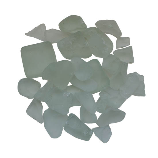 """Fire Glass Media - """"White"""" - Frosted - AMSF‐GLASS‐07"""