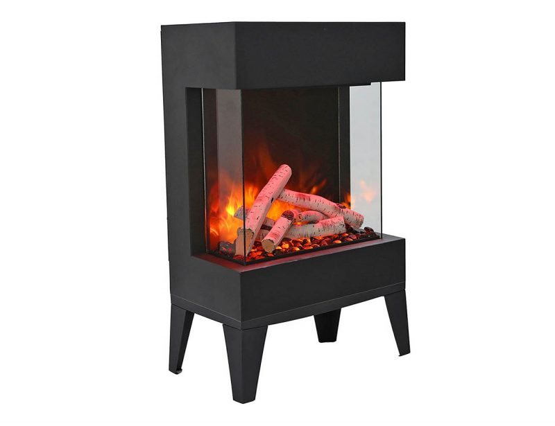 Cube freestand fireplace