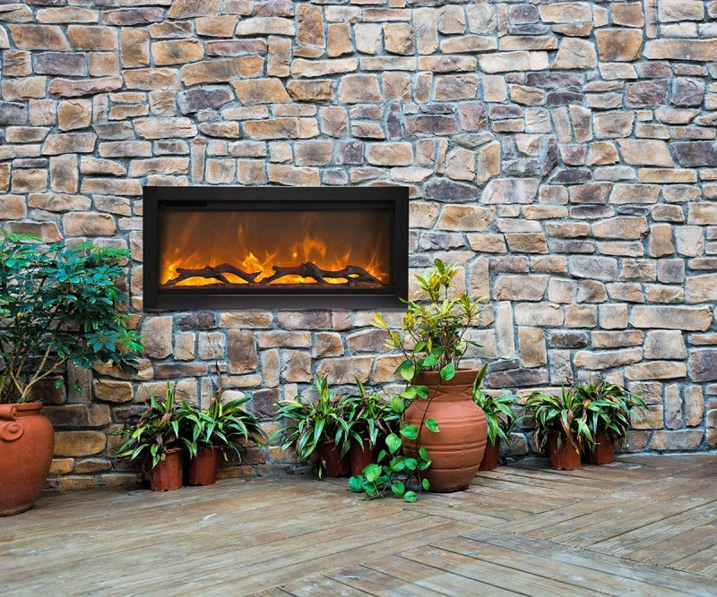 SYM outdoor electric fireplace