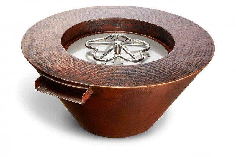 HPC Mesa copper fire bowl