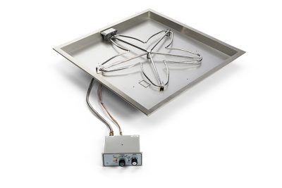 Square Bowl Push Button fire pit insert